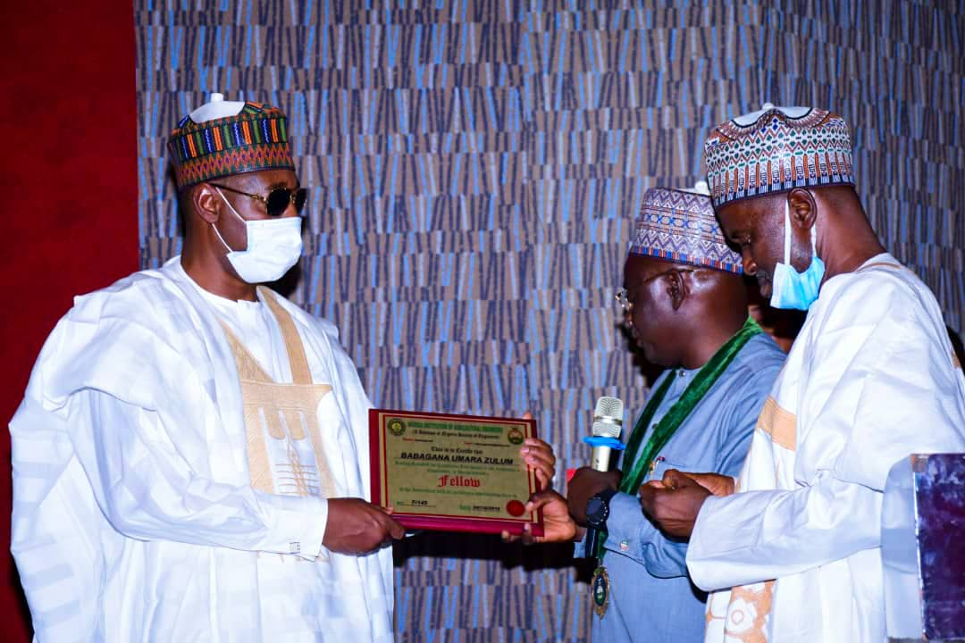 Zulum conferred fellow of Agricultural engineers