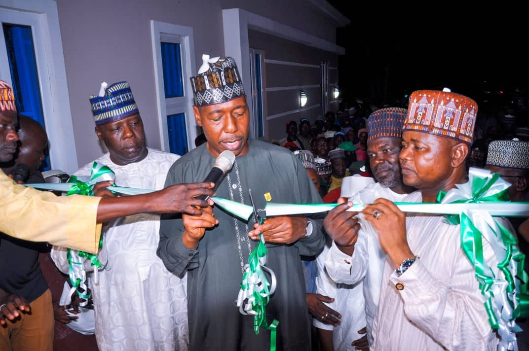 His Excellency Engr. Prof. Babagana Umara Zulum Opens Health Center, Technical College in Chibok; Inspects 500 Houses in Damboa